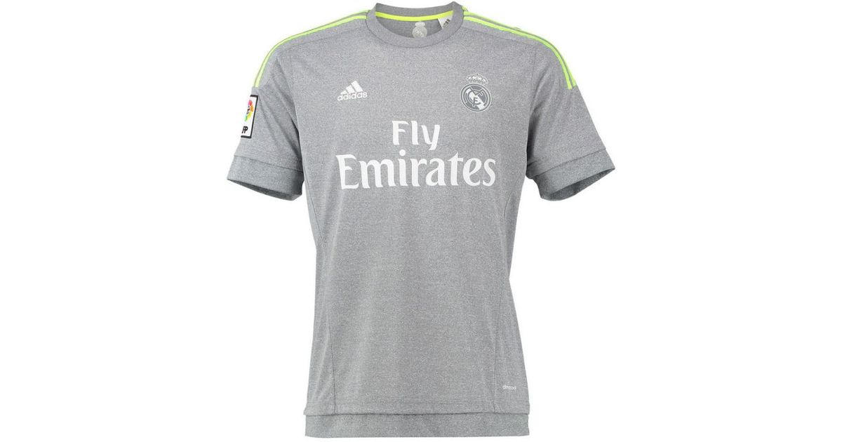 6c0b2bdc1 adidas 2015-2016 Real Madrid Away Shirt (kids) Men s T Shirt In Grey in  Gray for Men - Lyst