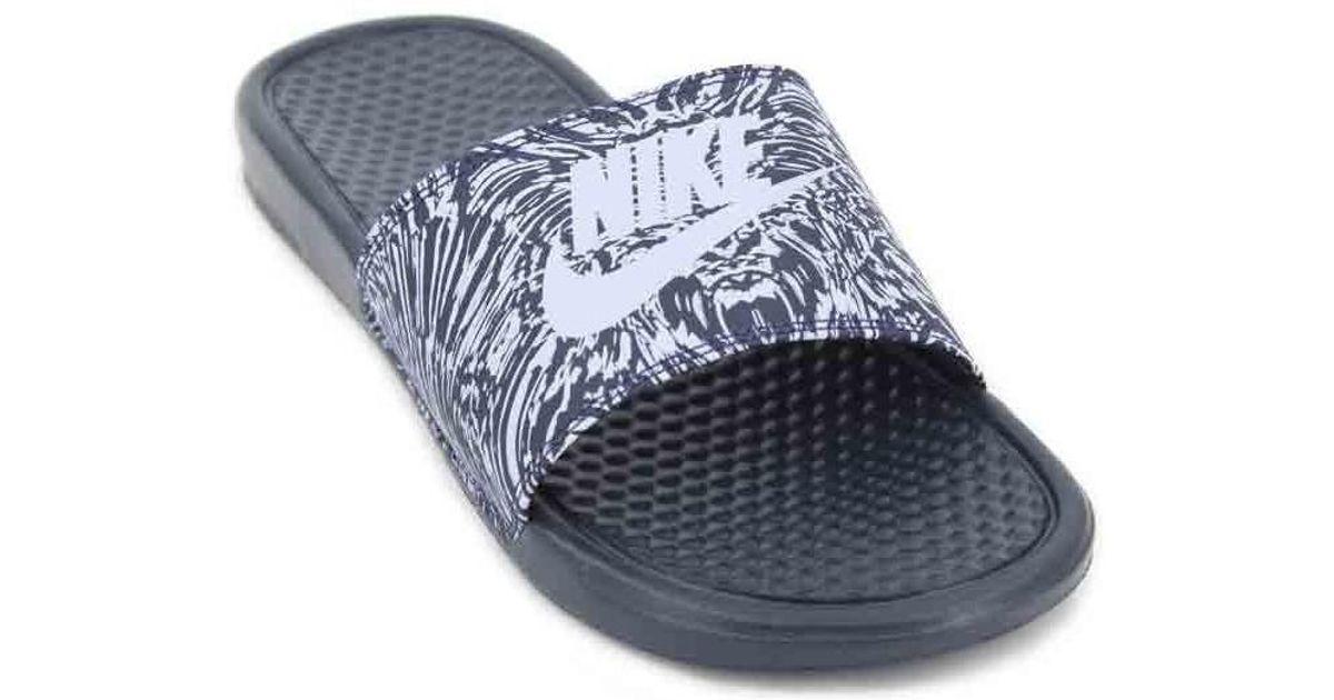 0efa633ccd92ae Nike Benassi Jdi Print 631261 Men s Flip Flops Men s Sandals In Black in  Black for Men - Lyst