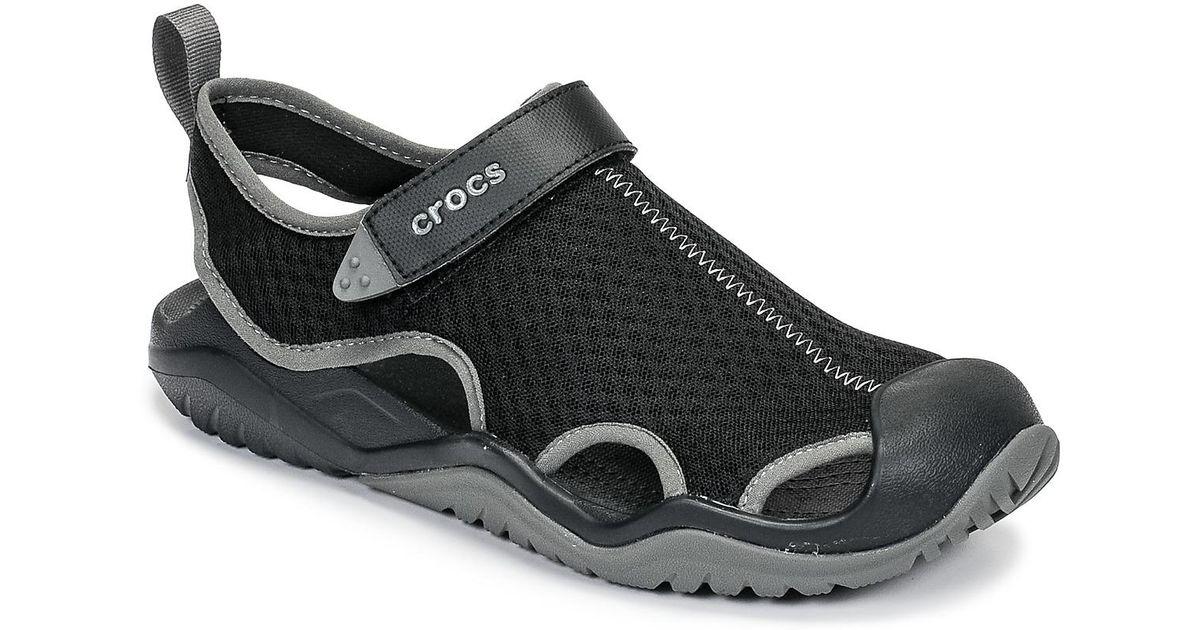 6e209b80a081 Crocs™ Swiftwater Mesh Deck Sandal M Men s Sandals In Black in Black for  Men - Lyst