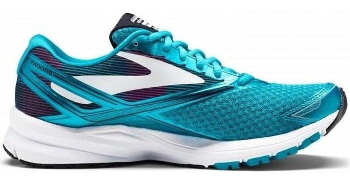 hot sale online fbeff a418e Brooks - Blue Launch 4 Women's Shoes (trainers) In Multicolour - Lyst