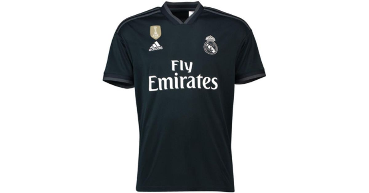 adidas 2018-2019 Real Madrid Away Football Shirt Men s T Shirt In Black in  Black for Men - Lyst f745d977f