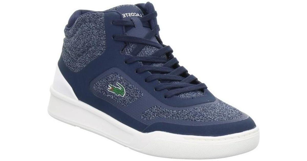 ba6001848d531 Lacoste Explorateur Spt Mid Men s Shoes (high-top Trainers) In Blue in Blue  for Men - Lyst