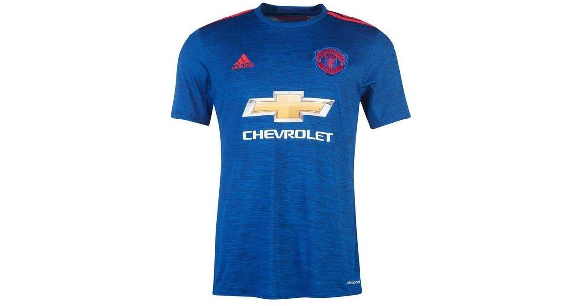 ea5d199c2 adidas 2016-17 Manchester United Away Shirt (martial 9) - Kids Men s T Shirt  In Blue in Blue for Men - Lyst