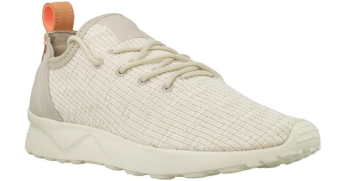 Adidas Natural Zx Flux Adv Virtue Sock W Women's Shoes (trainers) In Beige Lyst