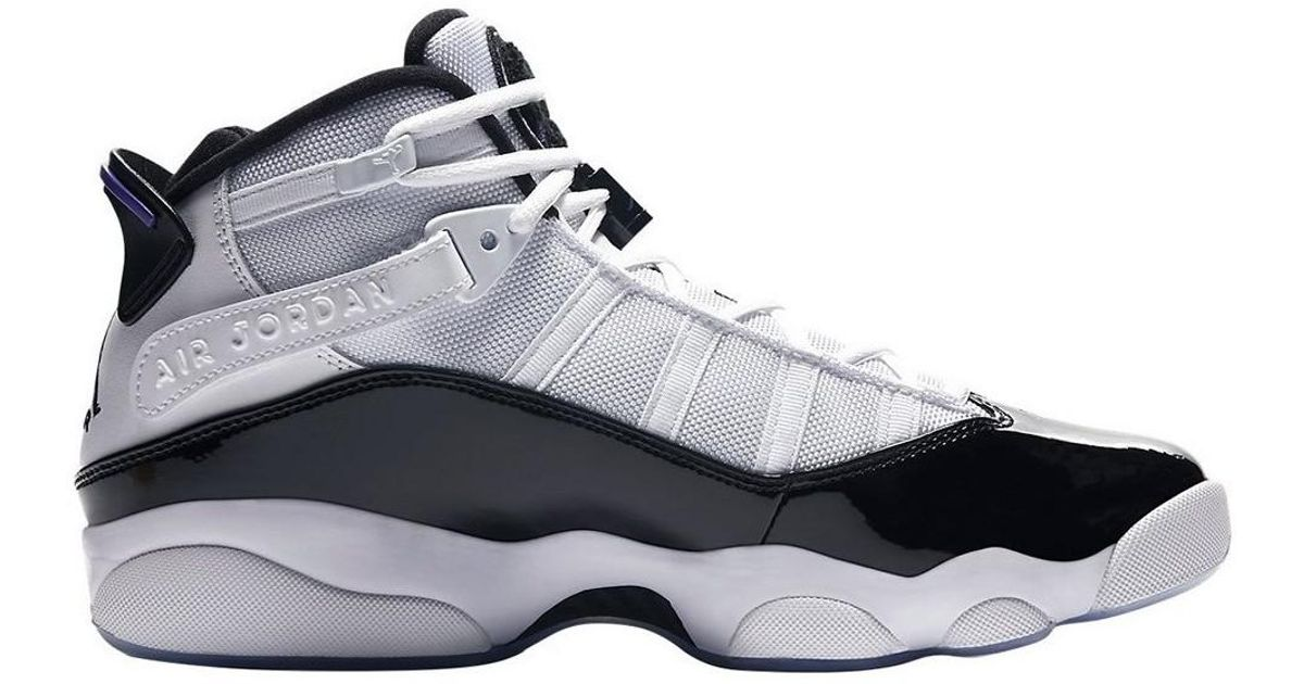 Nike Jordan 6 Rings Concord Men s Shoes (high-top Trainers) In Black in  Black for Men - Lyst ead92f657e89