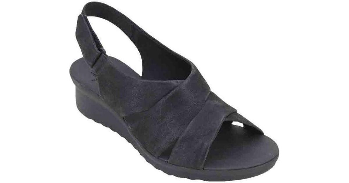 a39b7cdf9003 Clarks Caddell Petal Women s Sandals Women s Sandals In Black in Black -  Lyst