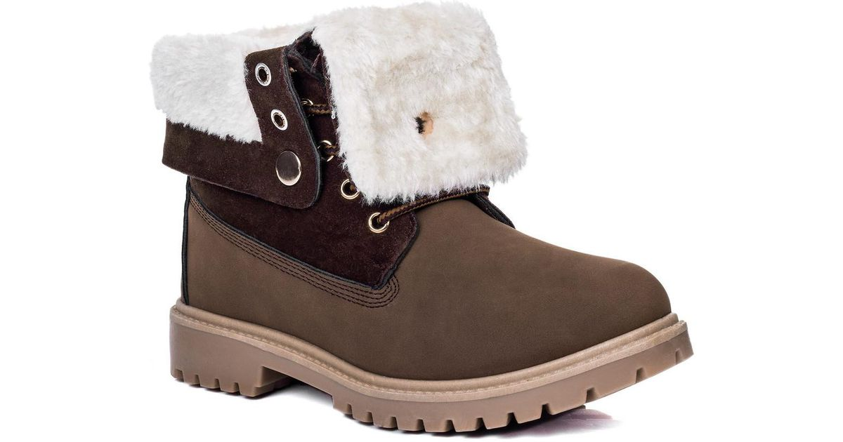 Womens Lace Up Cleated Sole Shearling Flat Combat Worker Walking Ankle Boots Sho