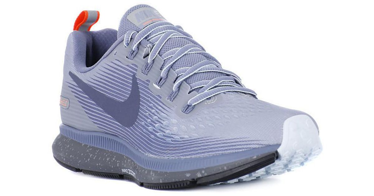 00f0aa7dec808 Nike Zoom Pegasus 34 Shield Men s Shoes (trainers) In Grey in Gray for Men  - Lyst