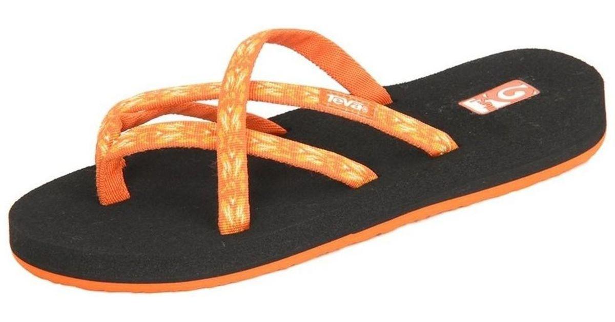 234df12657e1db Teva Olowahu Ws Hazel Orange Women s Flip Flops   Sandals (shoes) In  Multicolour in Orange - Lyst