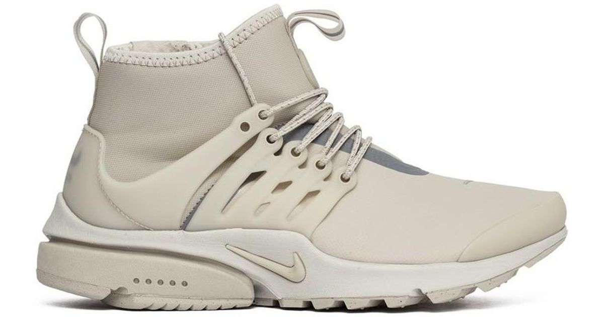 the best attitude f85ad 18a1d Nike Wmns Air Presto Mid Utility String Women s Shoes (high-top Trainers) In  Grey in Gray - Lyst