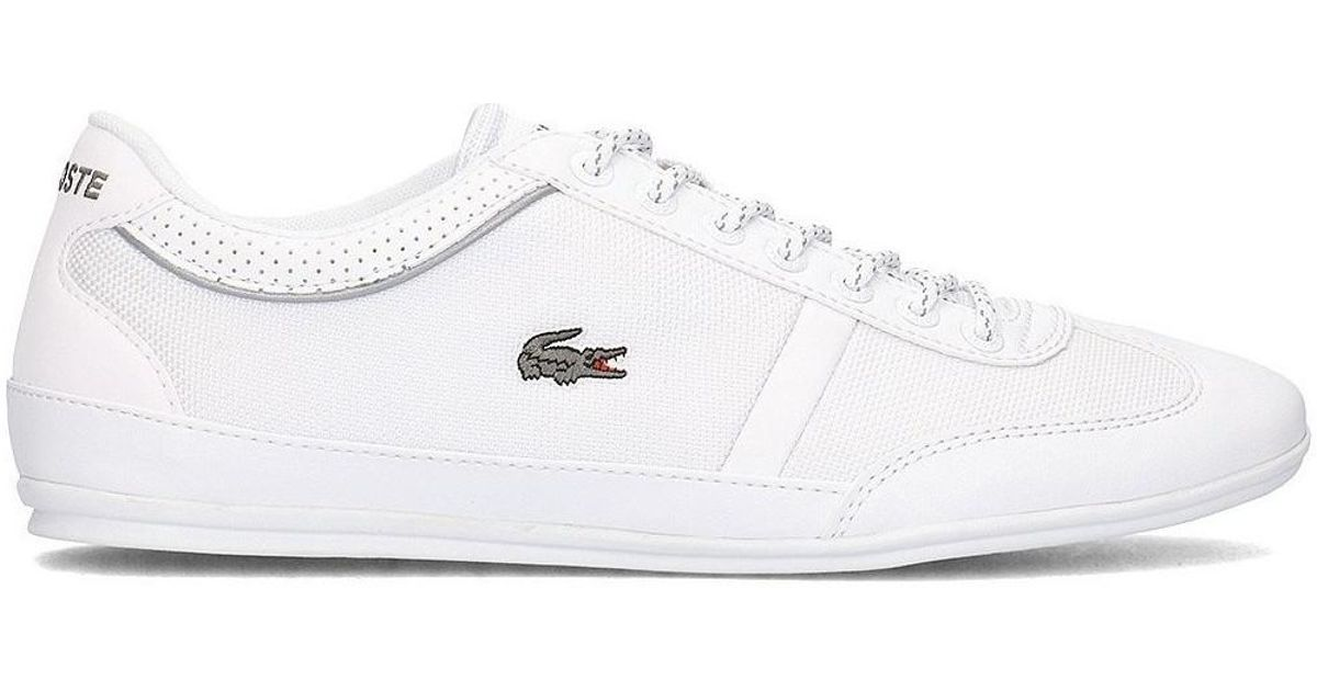 576b1f9f95ac Lacoste Misano Sport 218 1 Cam Whtwht Men s Shoes (trainers) In White in  White for Men - Lyst