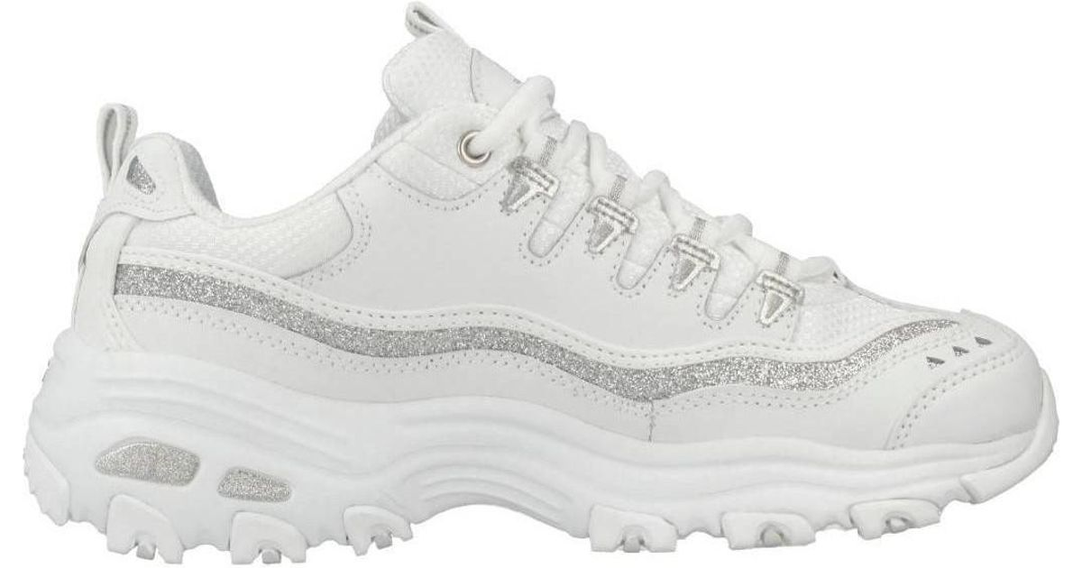 3e78d0b304ed Skechers D Lites Now Then Women s Shoes (trainers) In White in White - Lyst