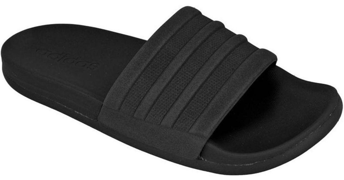 7cc639ab7 adidas Adilette Cloudfoam Plus Mono Slides W Women's Flip Flops / Sandals ( shoes) In Black in Black - Lyst