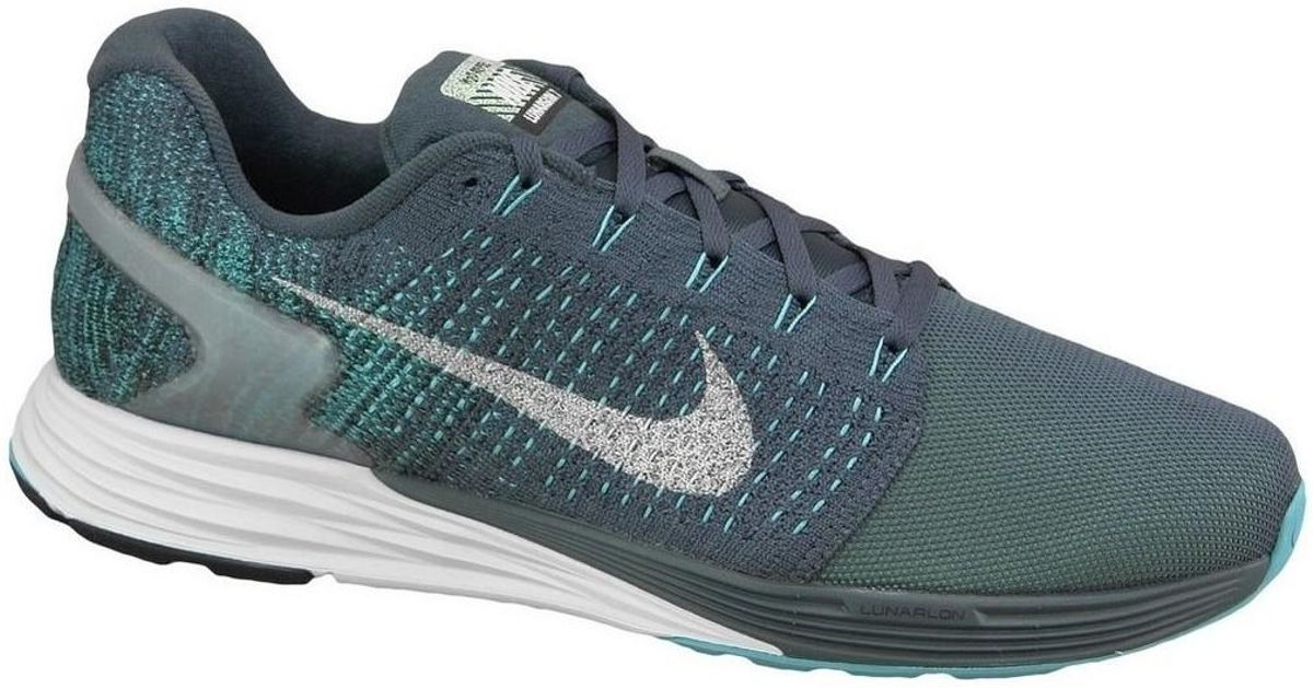 nike lunarglide 7 flash men s shoes trainers in blue in blue for rh lyst co uk