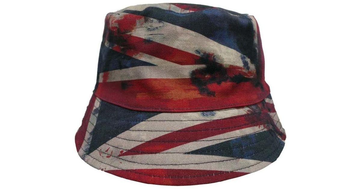 Pretty Green Reversible Union Jack Bucket H Men s Hat In Blue in Blue for  Men - Lyst 680596f444d4