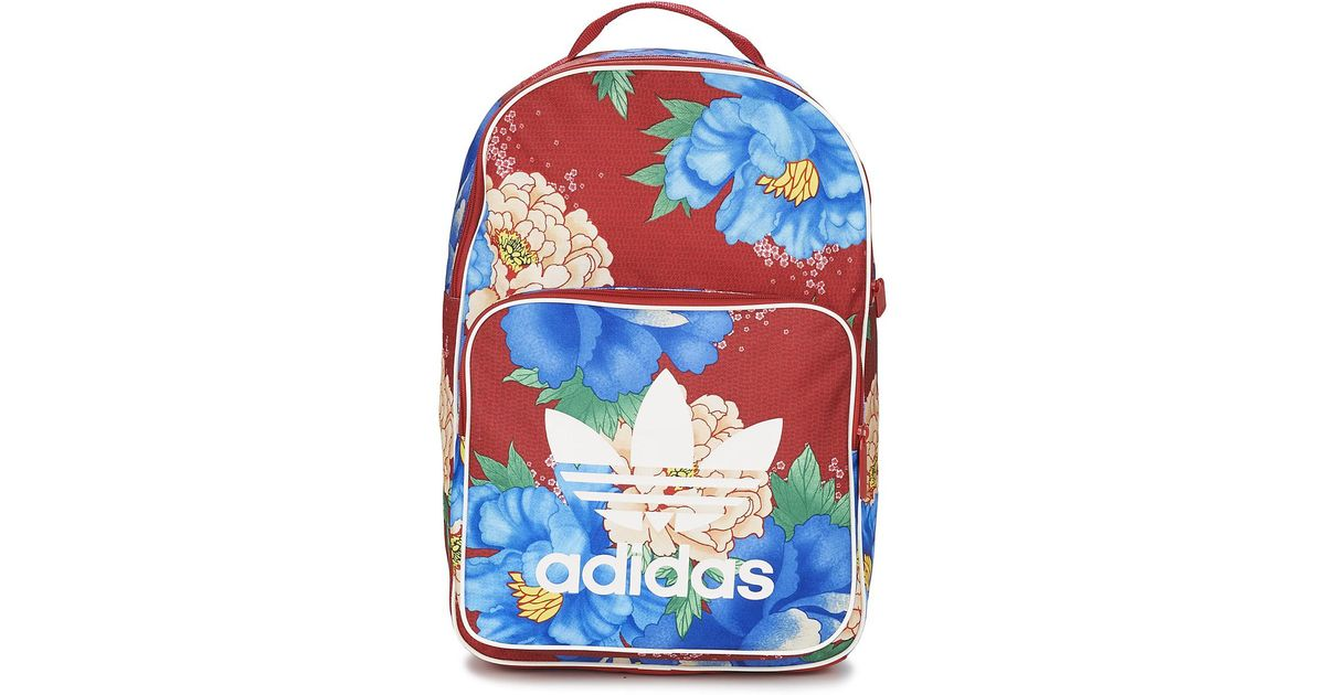 adidas Originals Bp Floral Women s Backpack In Red in Red - Lyst 63084129a8a8a