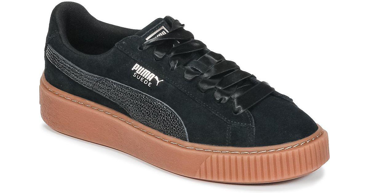 5ab380d76c1c Puma Suede Platform Bubble W s Women s Shoes (trainers) In Black in Black -  Lyst