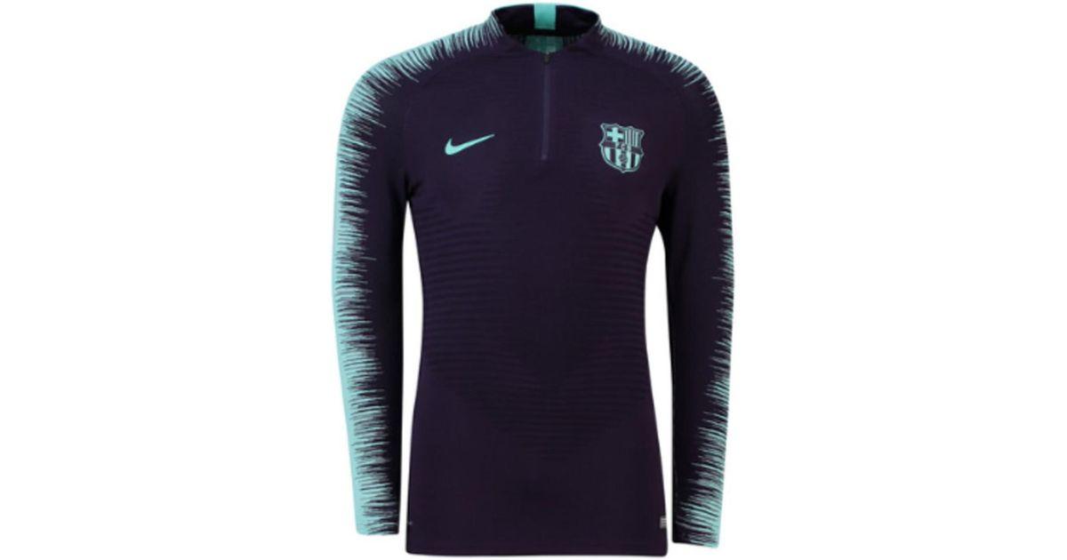 f209a95d743 Nike Fc Barcelona Club Team Vapor Knit Strike Drill Top in Purple for Men -  Lyst