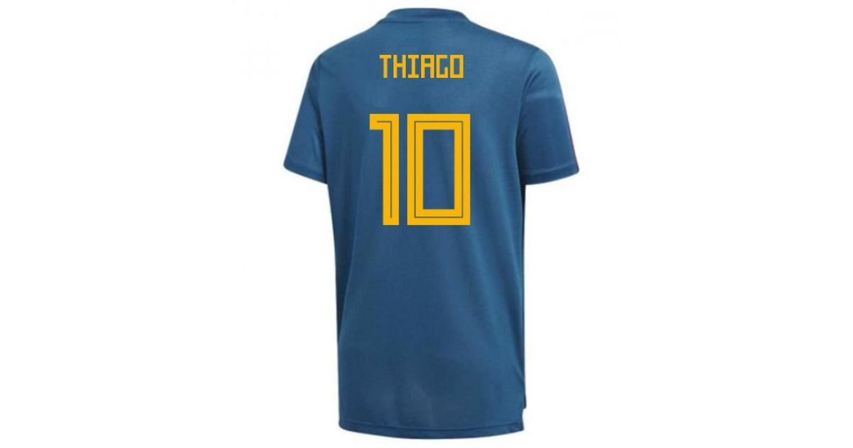 b933212b823 Adidas 2018-19 Spain Training Shirt (thiago 10) Men s T Shirt In Other in  Blue for Men - Lyst