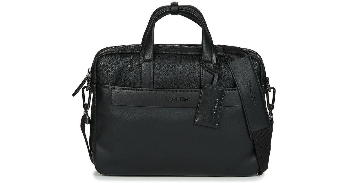 71b73f816 Calvin Klein Multi Task P Laptop Bag Men's Briefcase In Black in Black for  Men - Lyst