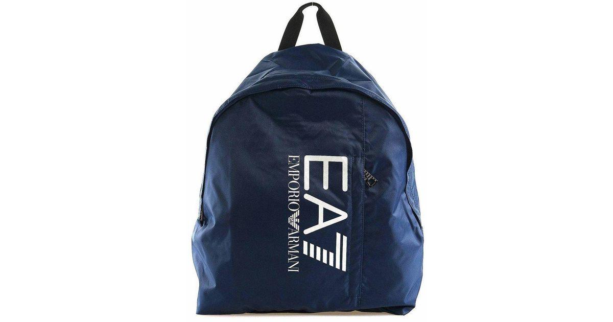 Emporio Armani Train Prime Backpack Blue Bag in Blue for Men - Lyst 859323c1ed55b