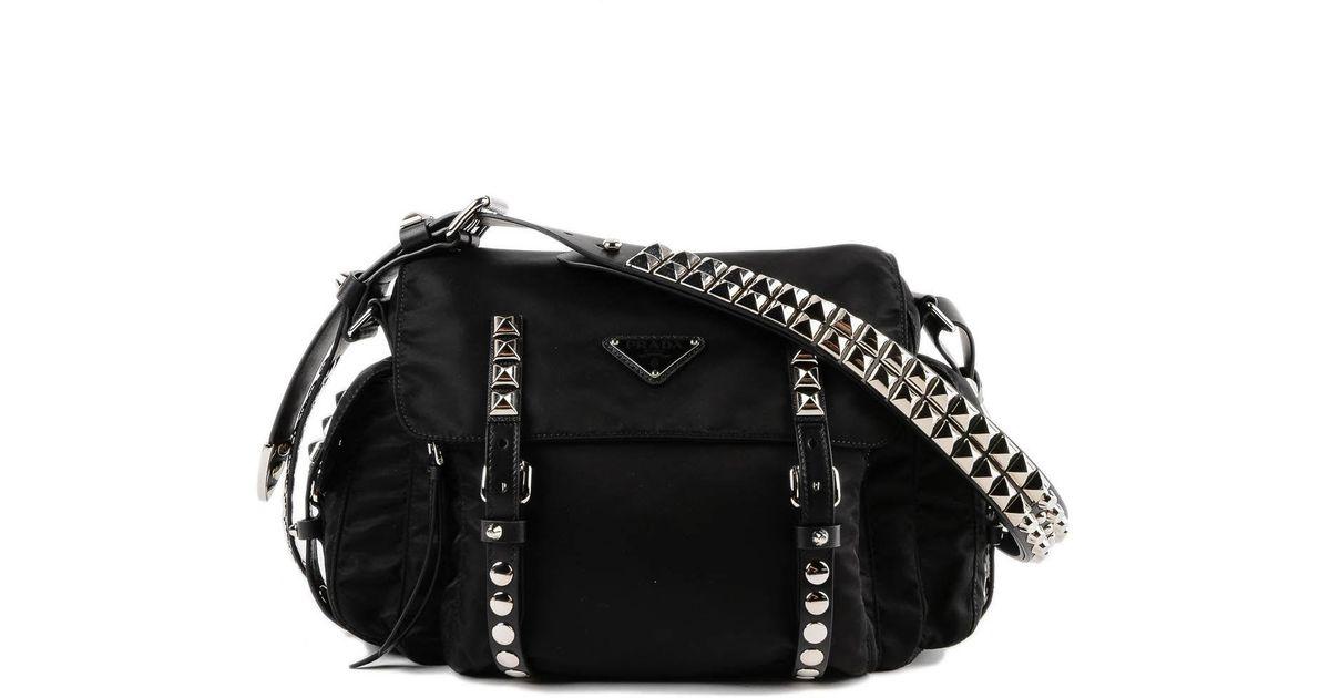 b8b7728e9ef3 Prada Shoulder Bag New Vela in Black - Lyst