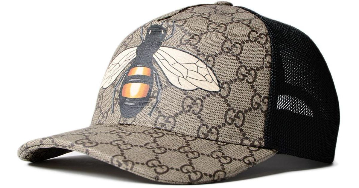 Lyst - Gucci Gg Supr. Bee Baseball Cap for Men c1892173c3d
