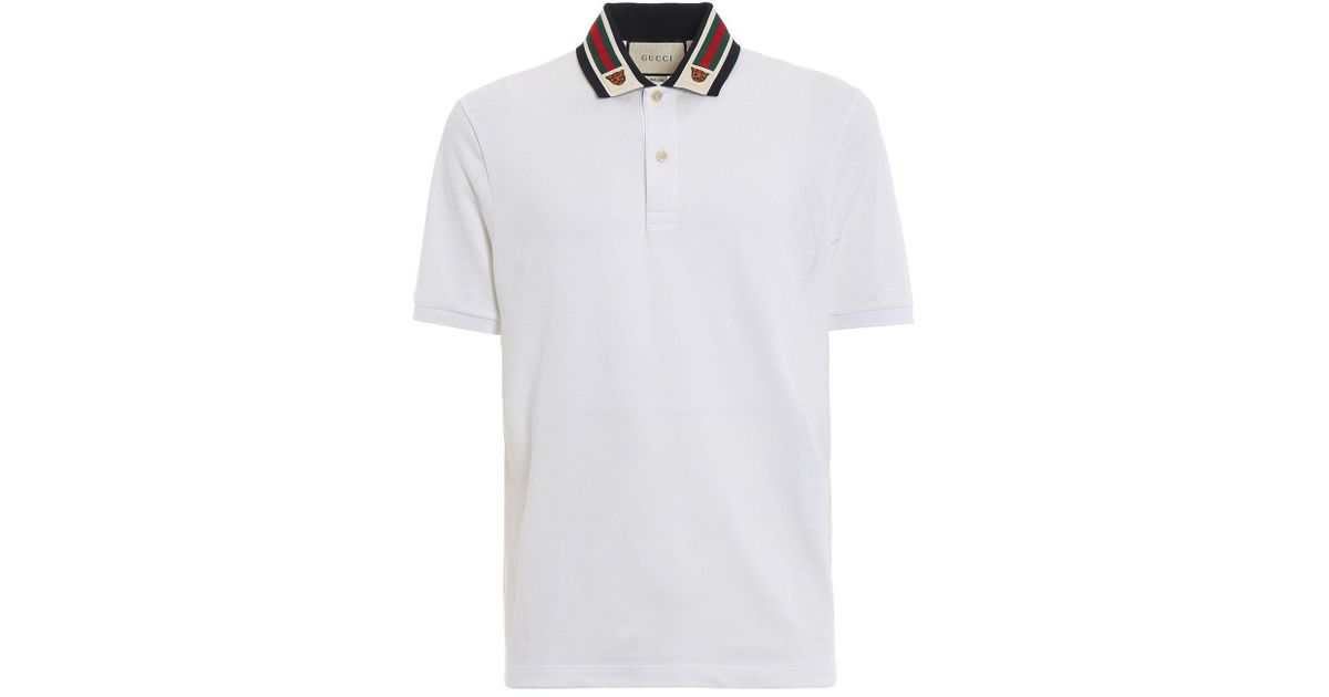 75a6b23813a Lyst - Gucci Polo Shirt in White for Men