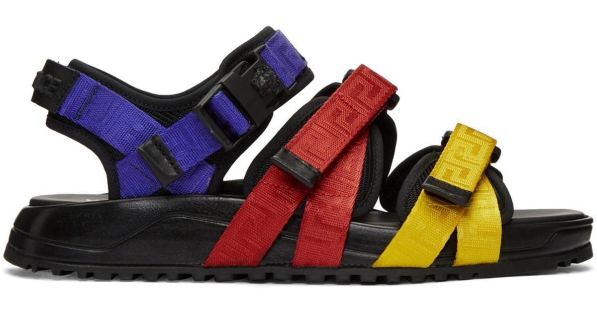 48096edf95c4e0 Lyst - Versace Multicolor Strap Sandals in Blue for Men