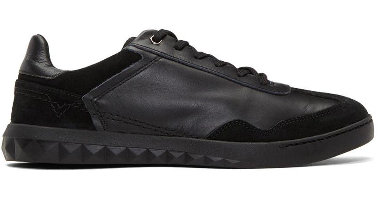 Fashion Mens Diesel Black SStudshean Sneakers