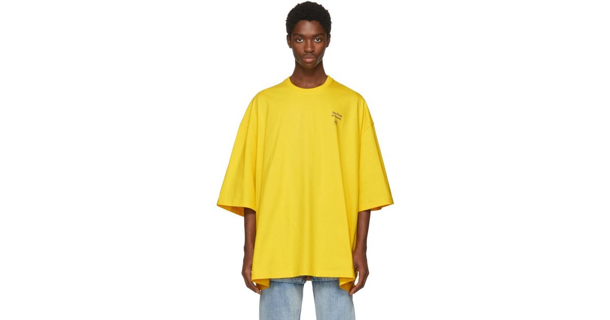 6650343f Balenciaga Yellow Power Of Dreams Big Fit T-shirt in Yellow for Men - Lyst
