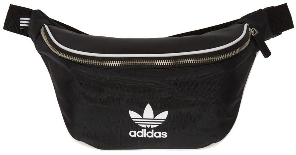 7e507b003e76 Lyst - adidas Originals Black Logo Waist Bag in Black for Men