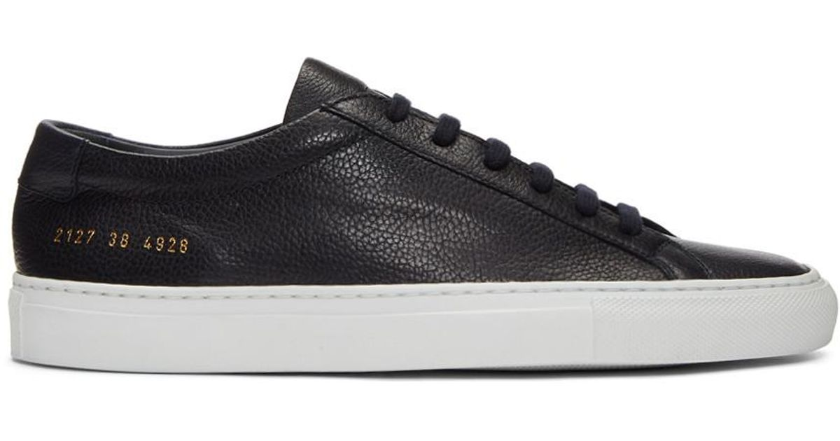075e908c7c2f Lyst - Common Projects Navy And White Original Achilles Low Premium  Sneakers in Blue for Men