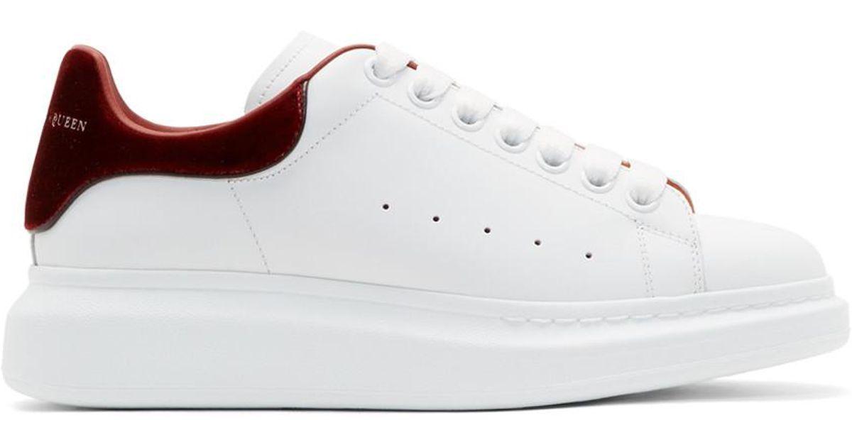22730ed63dcf Alexander McQueen White   Orange Oversized Sneakers in White for Men - Lyst