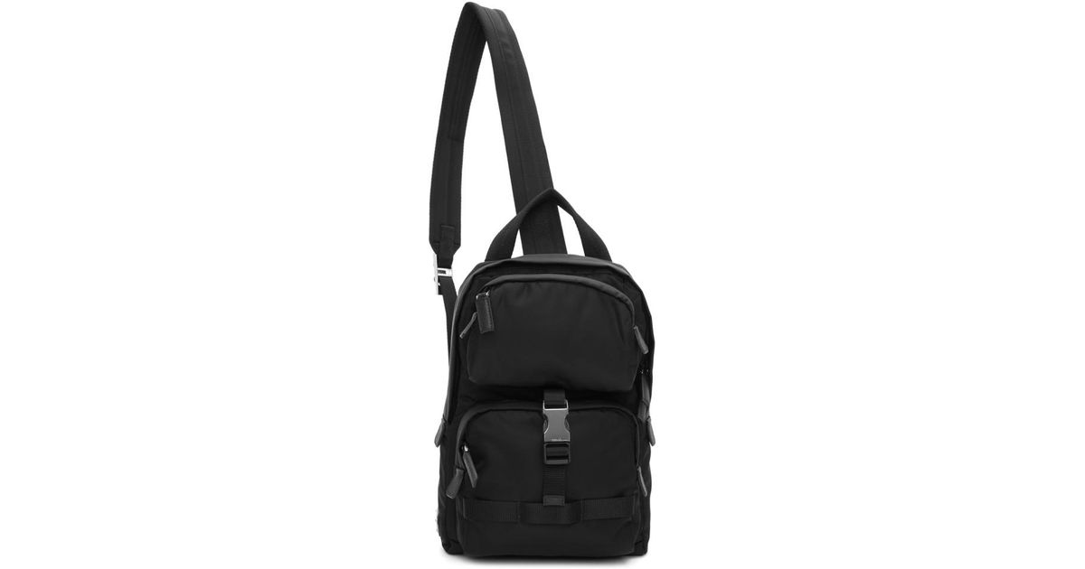 ee359b7f26da Lyst - Prada Black Mountain Backpack in Black