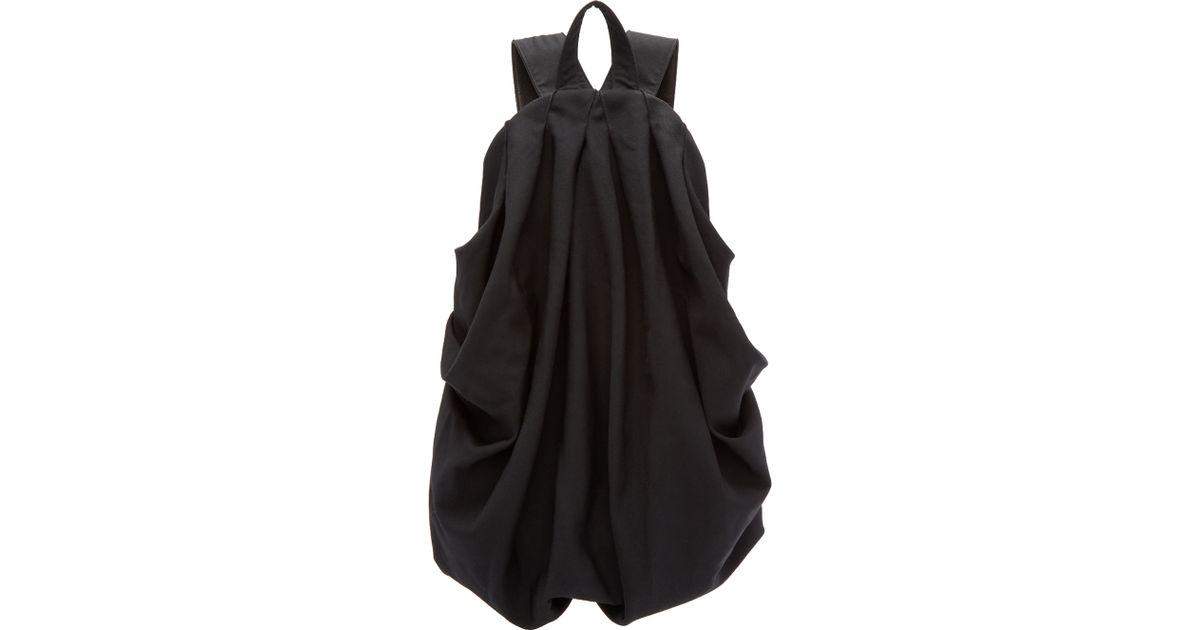 Lyst - Yohji Yamamoto Black Draped Backpack in Black 25dc1ed4c8