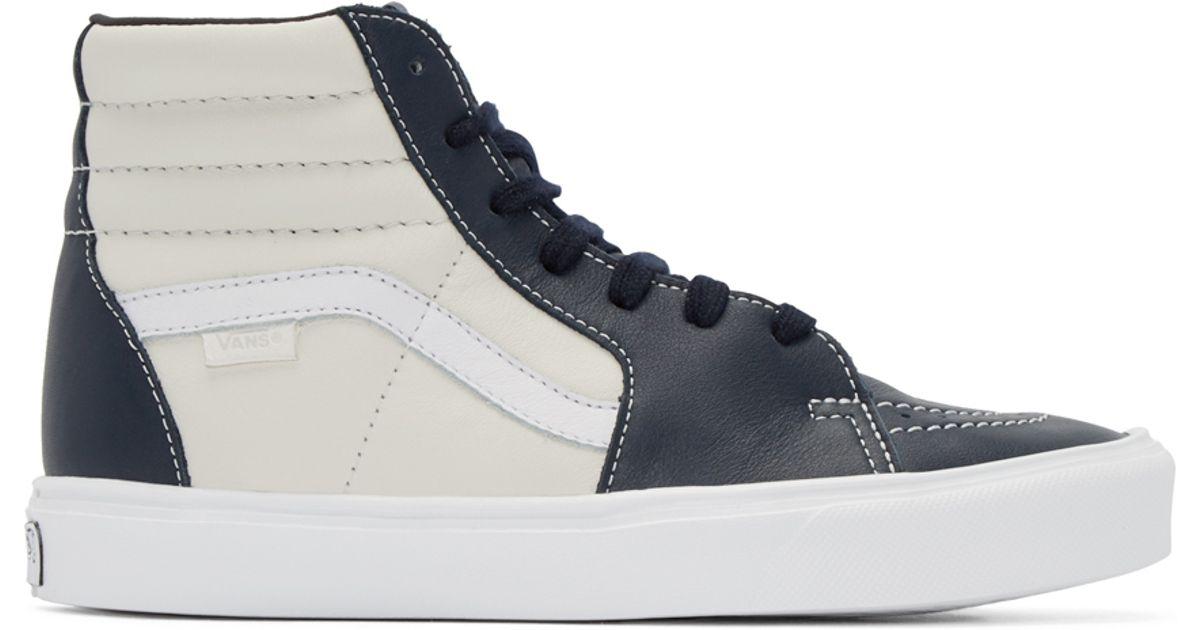 3667442aec Vans Navy   Off-white Sk8-hi Lite Lx High-top Sneakers in White for Men -  Lyst