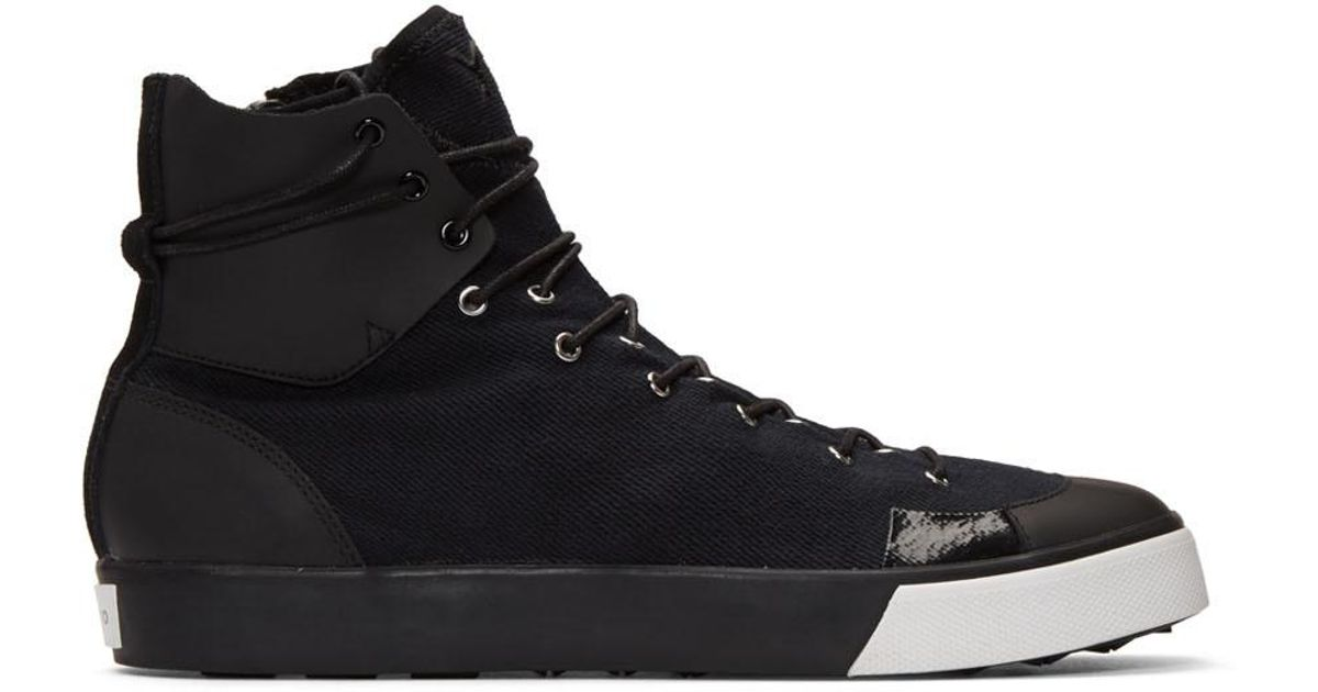 new concept 1d4a5 6b9a5 Lyst - Y-3 Black Sen High-top Sneakers in Black for Men