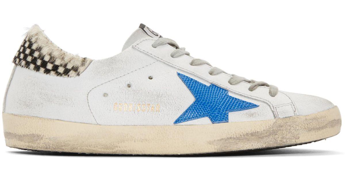 Golden Goose & Crack Check Superstar Sneakers p1OjbYH