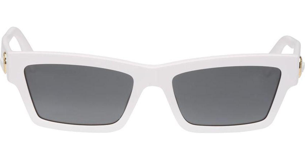 46108ebfb3e Lyst - Versace White Slim Medusa Sunglasses for Men