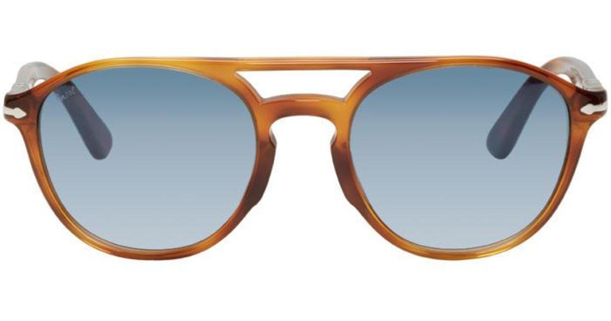 16ba24334ea40 Persol Tortoiseshell Po3170s Sunglasses in Brown for Men - Lyst