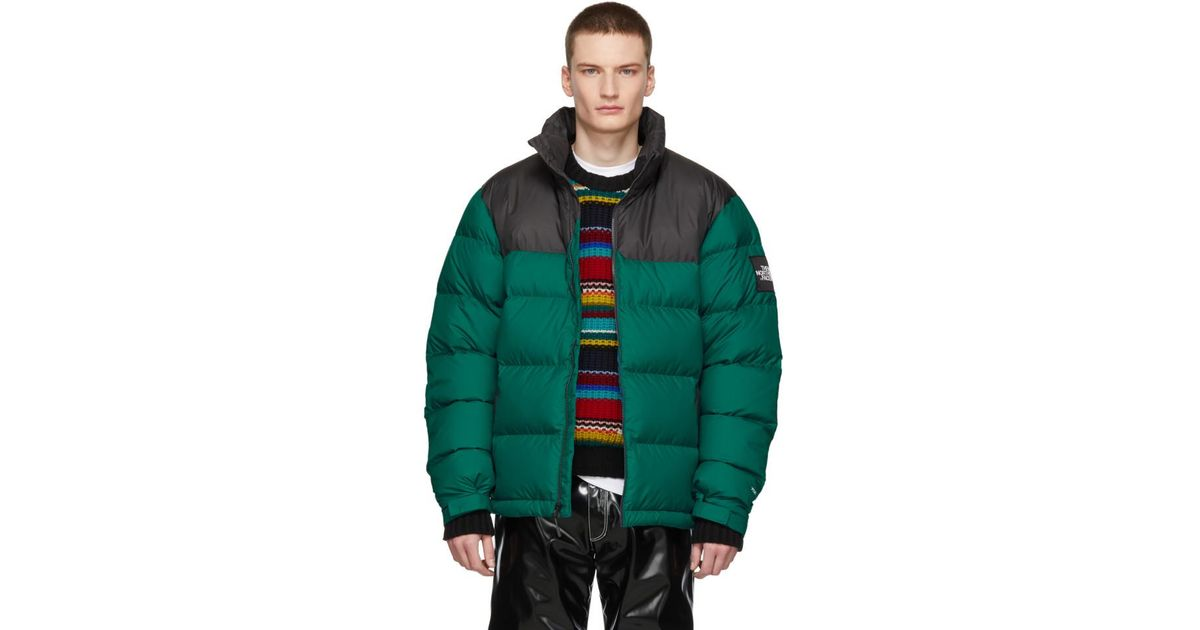 841a354073df Lyst - The North Face Green Down 1992 Retro Nuptse Jacket in Green for Men