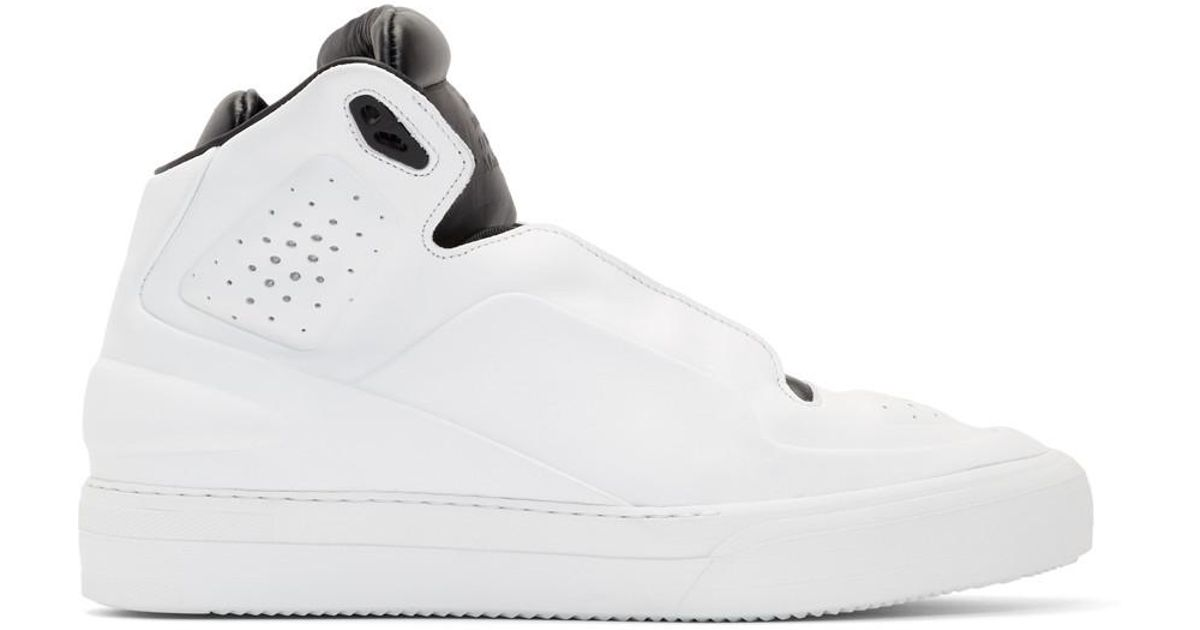 White and Black High Frequency High-Top Sneakers Maison Martin Margiela fpC1NF