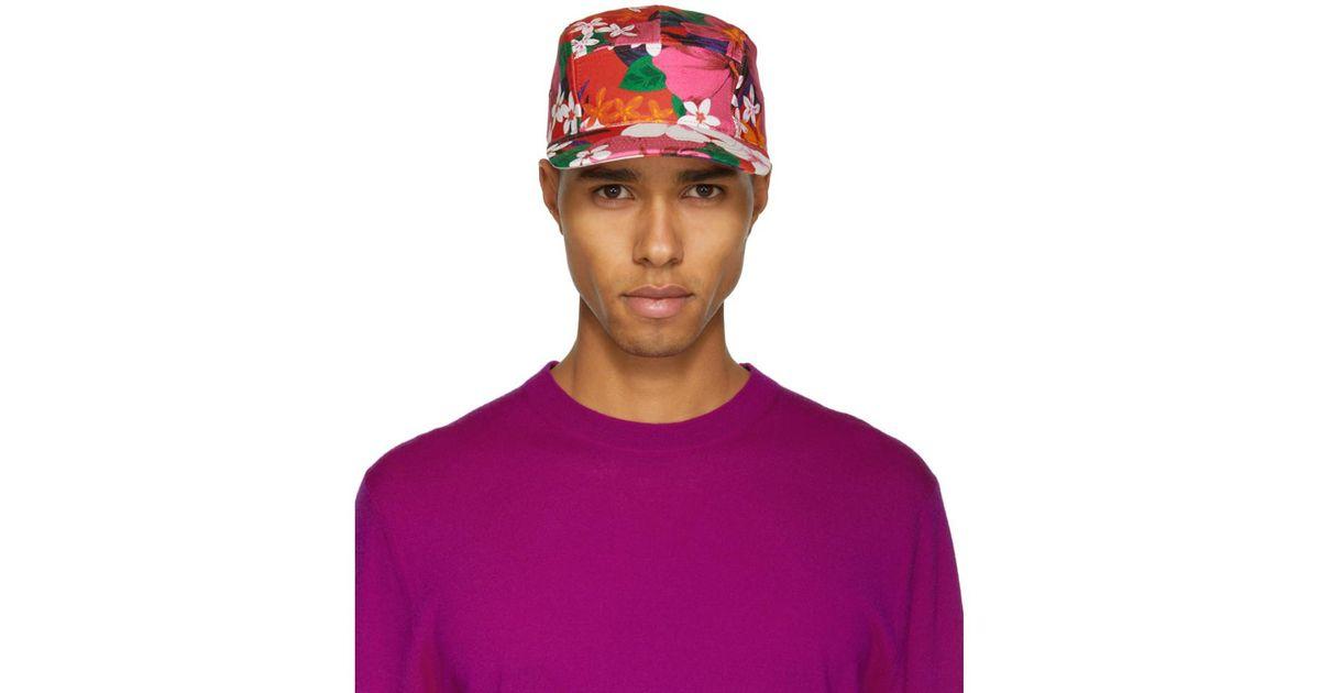 Floral Chapeau Rouge À Cinq Panneaux Ami JIH0sP9kR4