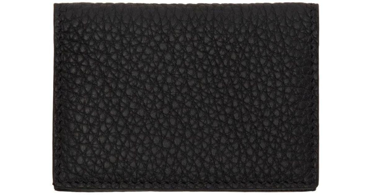 9f0abd899423 Éditions MR Black Leather Card Holder in Black for Men - Lyst