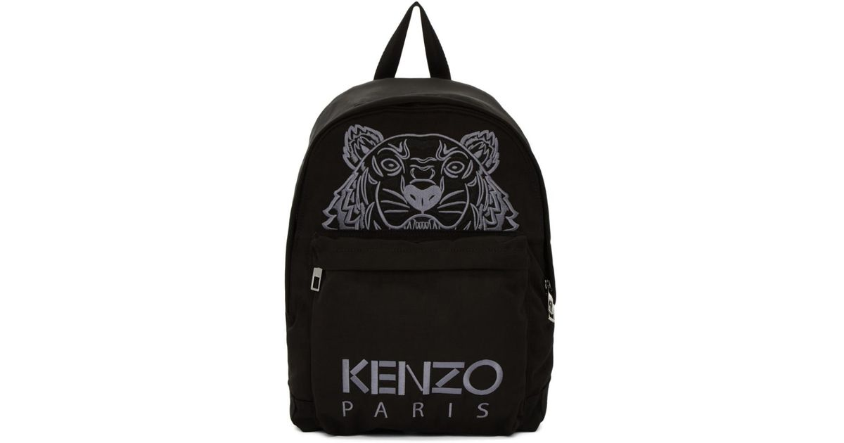 8d3253265a Kenzo Black Tiger Icon Backpack in Black - Lyst