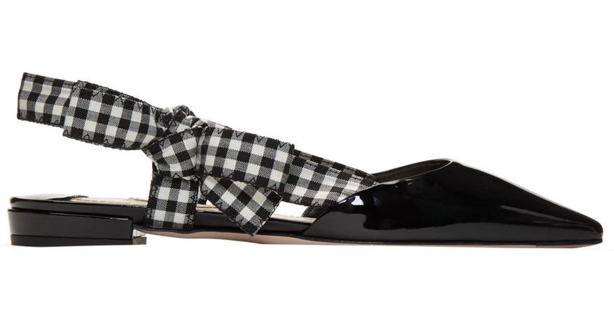 500371c8a40 Lyst - Miu Miu Ballet Flats in Black