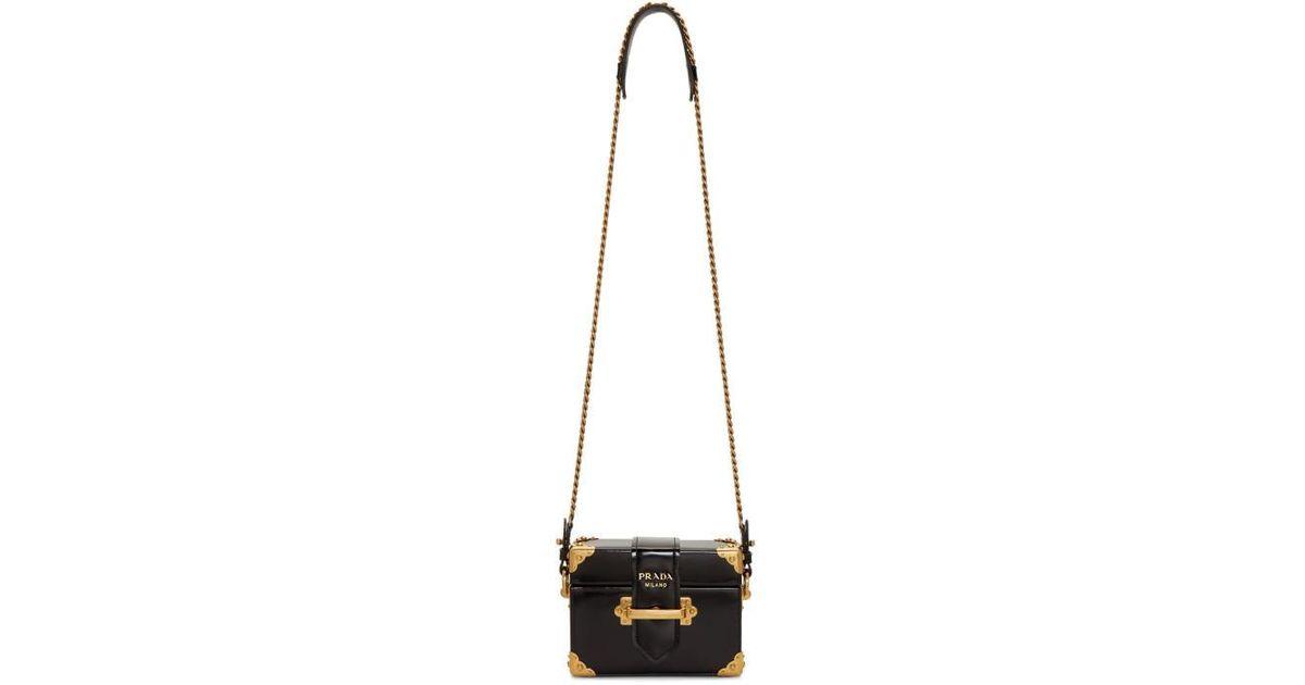 c5d9db03887c Prada Black Cahier Rectangular Box Chest Bag in Black - Lyst