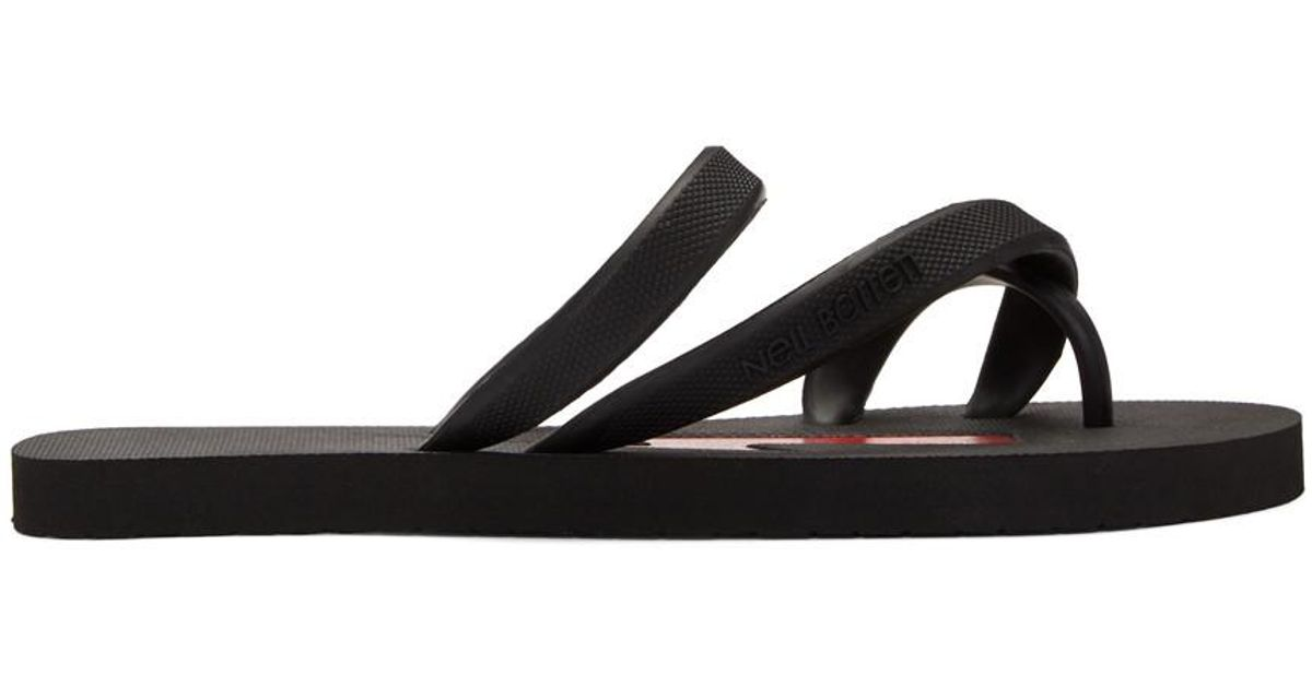 Pictures Black and Red Rubber Thunderbolt Sandals Neil Barrett Classic Online Outlet Shop Offer Buy Cheap Hot Sale Clearance Footlocker Pictures F0O7hMlM