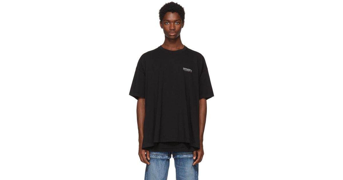 ff70b56de31d Balenciaga Black Speedhunter Double Hem T-shirt in Black for Men - Lyst